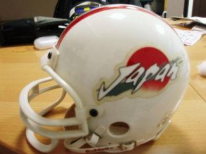日本アメリカンフットボール代表チームのミニチュアヘルメット